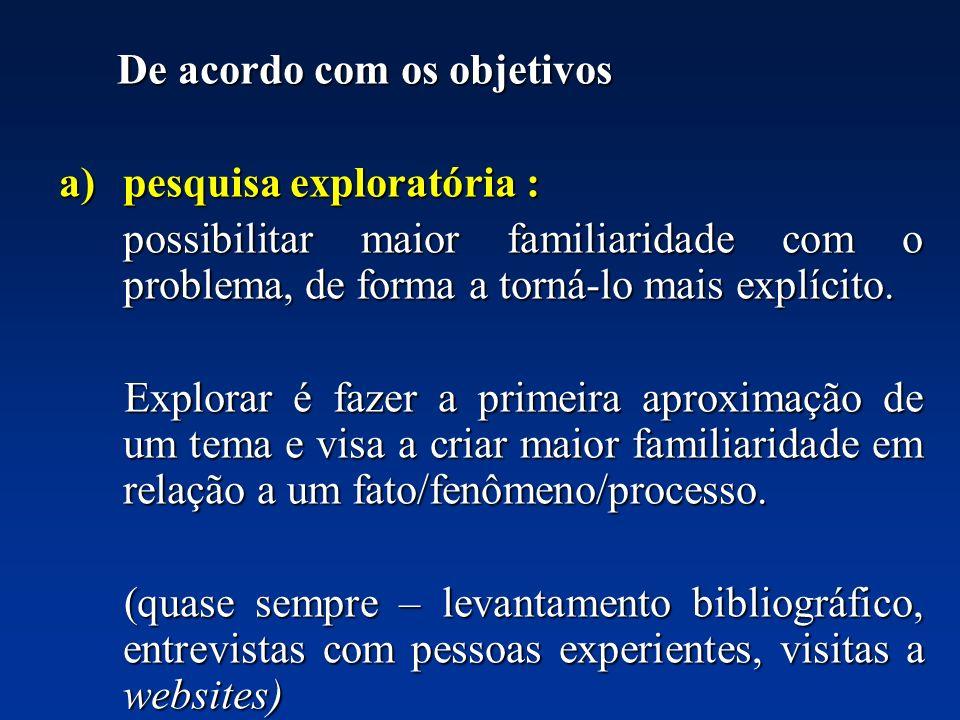 pesquisa exploratória :
