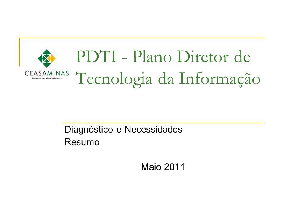 PDTI - Plano Diretor de Tecnologia da Informação