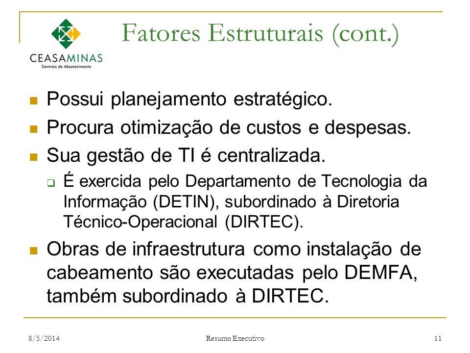 Fatores Estruturais (cont.)