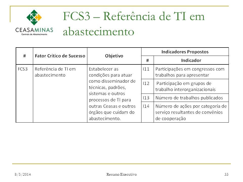FCS3 – Referência de TI em abastecimento