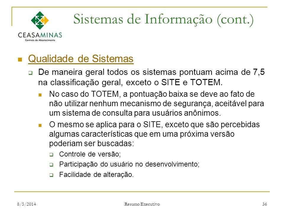 Sistemas de Informação (cont.)