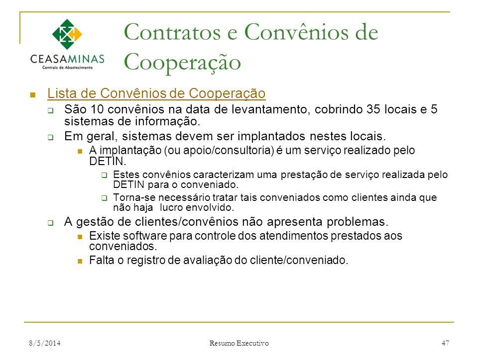 Contratos e Convênios de Cooperação
