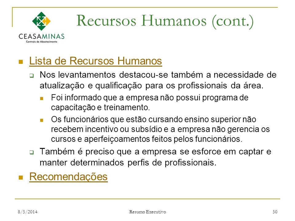 Recursos Humanos (cont.)