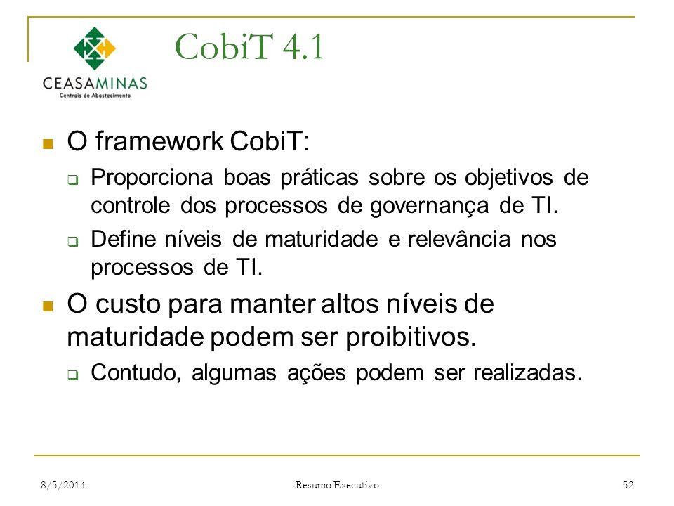 CobiT 4.1 O framework CobiT:
