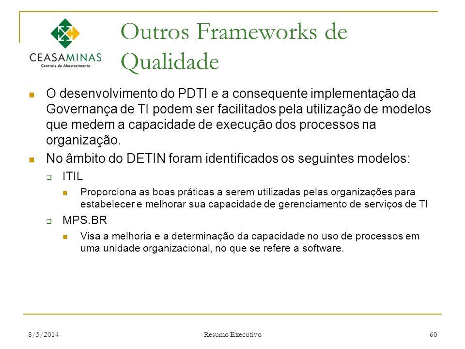 Outros Frameworks de Qualidade