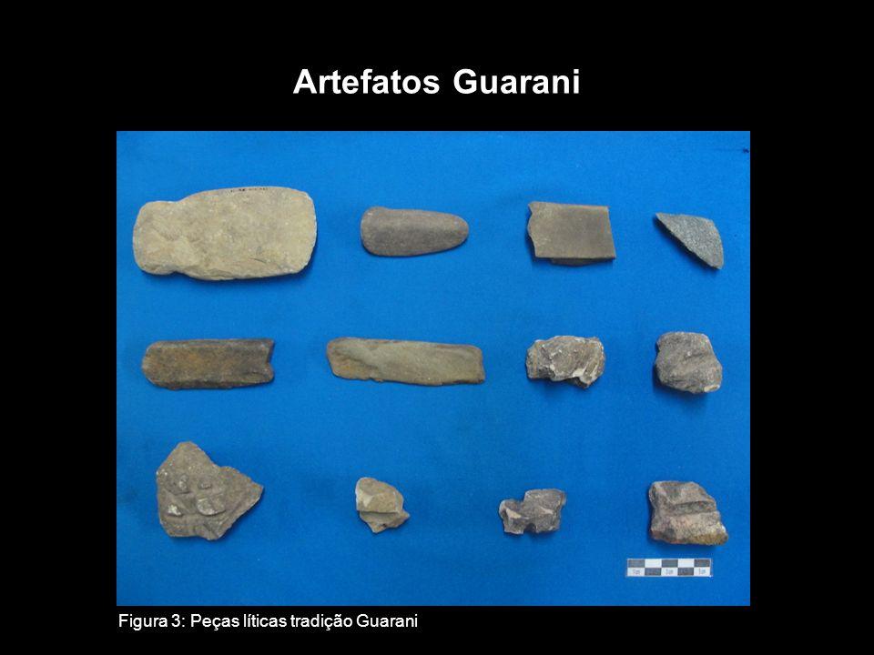 Artefatos Guarani Figura 3: Peças líticas tradição Guarani