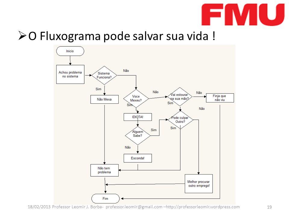 O Fluxograma pode salvar sua vida !
