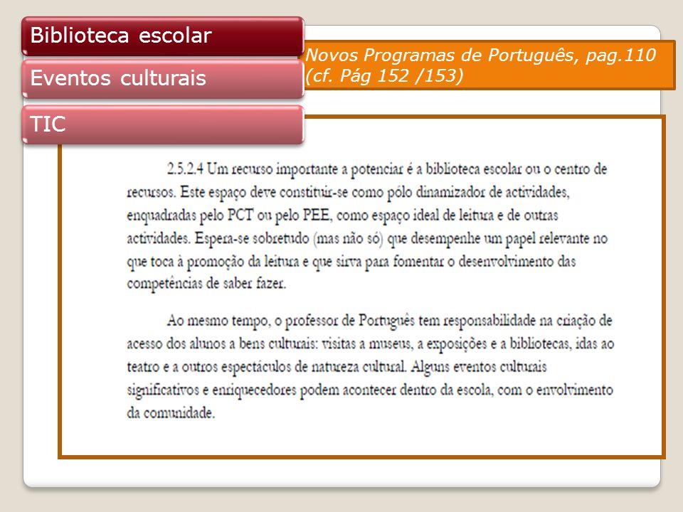 Biblioteca escolar Eventos culturais TIC