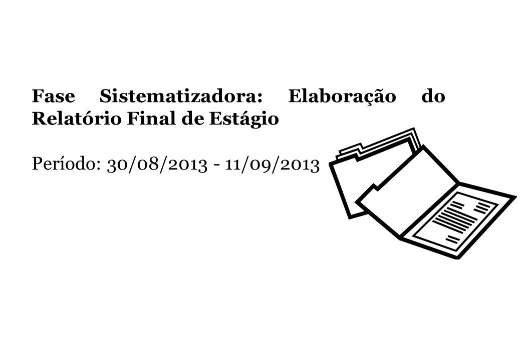 Fase Sistematizadora: Elaboração do Relatório Final de Estágio