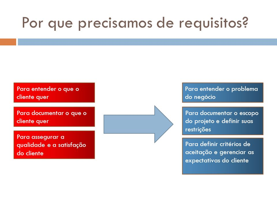 Por que precisamos de requisitos