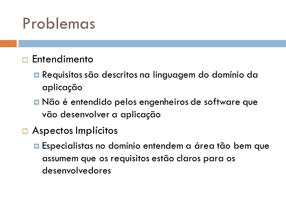 Problemas Entendimento Aspectos Implícitos