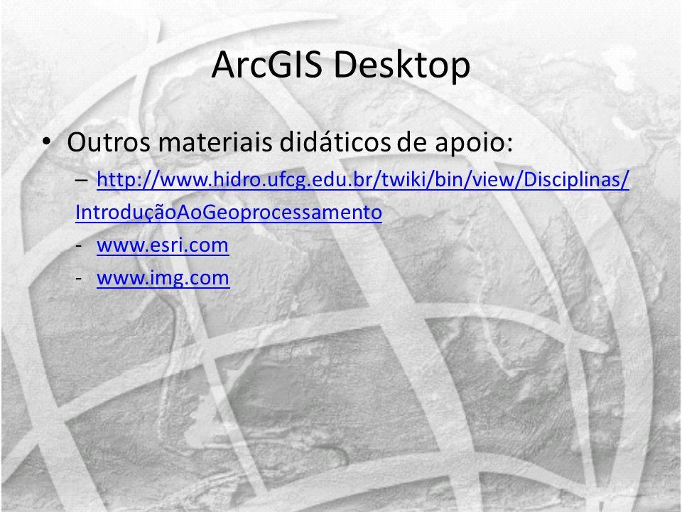 ArcGIS Desktop Outros materiais didáticos de apoio: