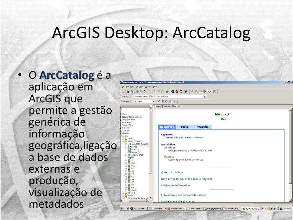 ArcGIS Desktop: ArcCatalog