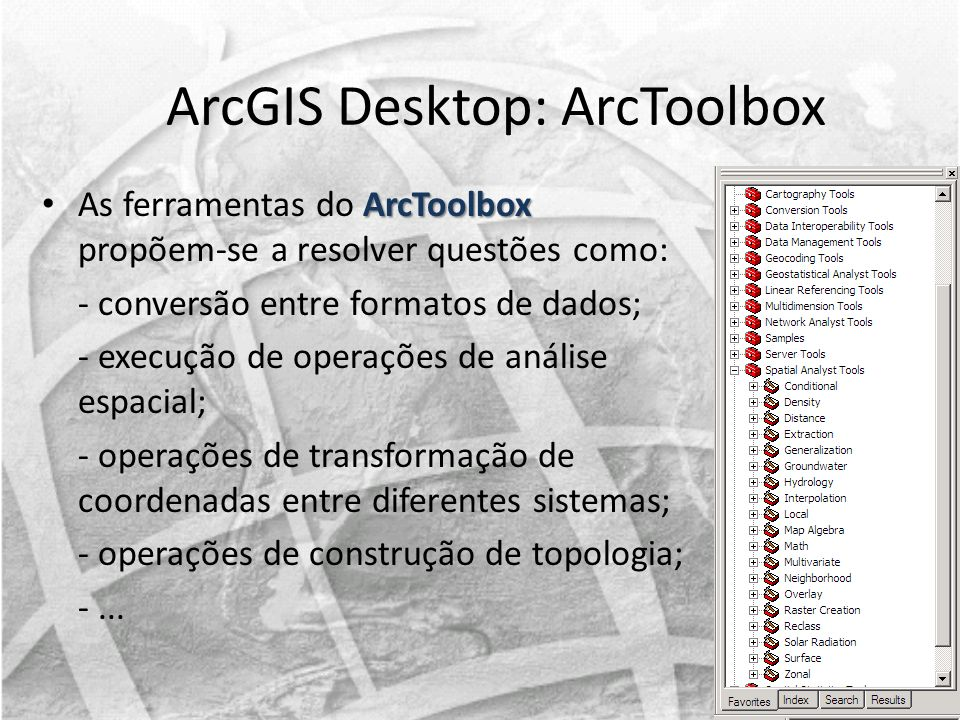 ArcGIS Desktop: ArcToolbox