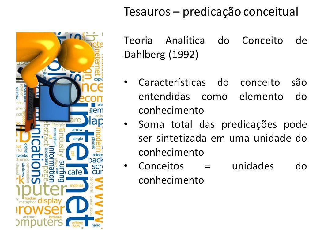 Tesauros – predicação conceitual