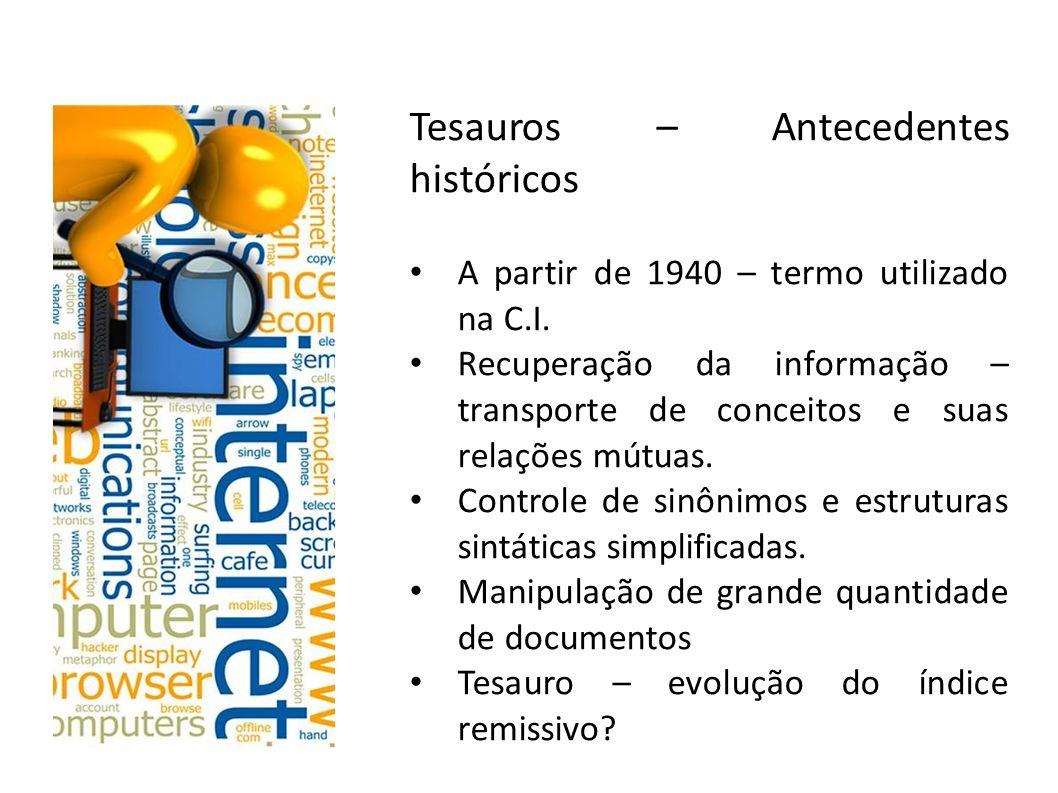 Tesauros – Antecedentes históricos