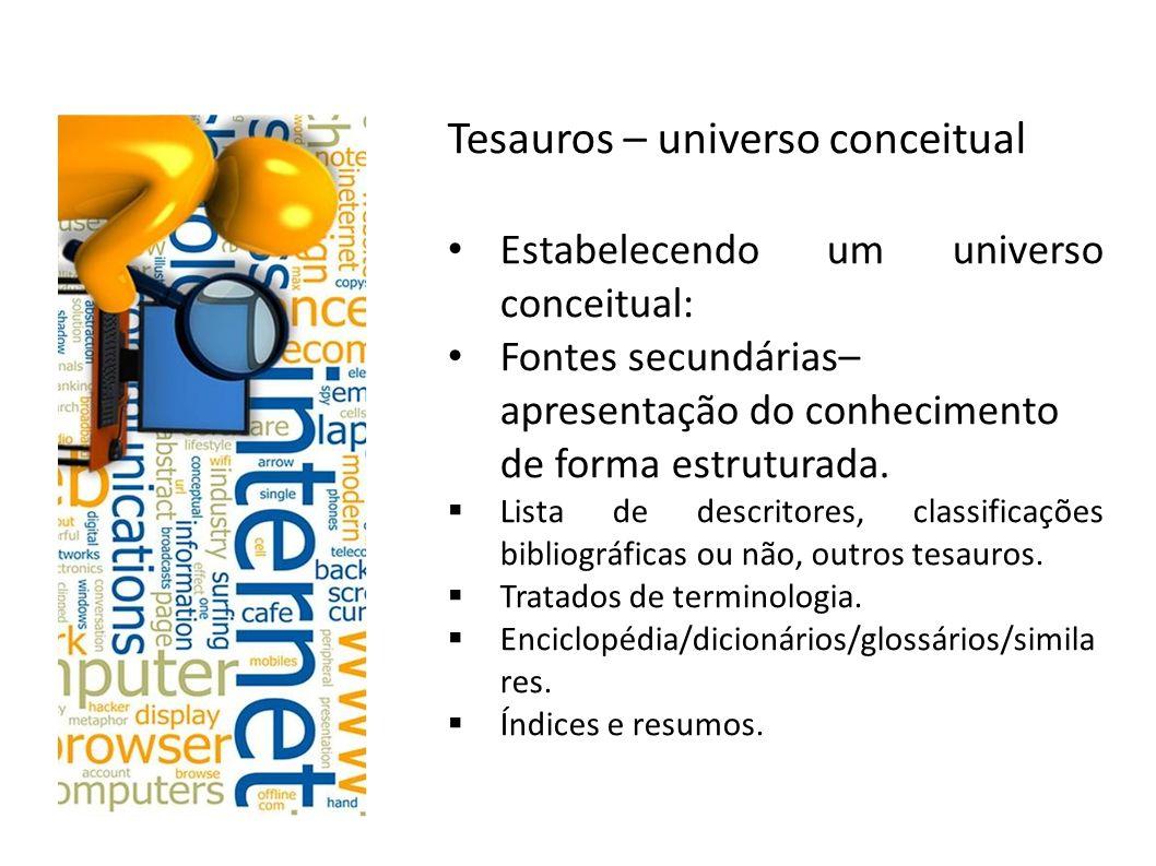 Tesauros – universo conceitual