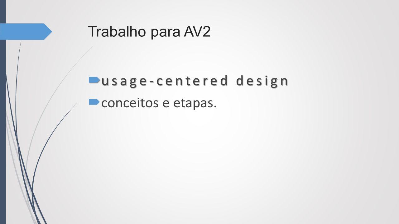 Trabalho para AV2 usage-centered design conceitos e etapas.