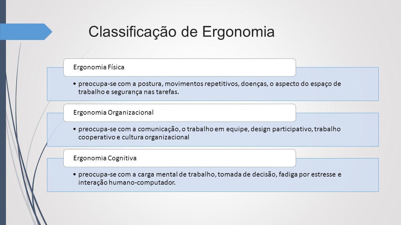 Classificação de Ergonomia