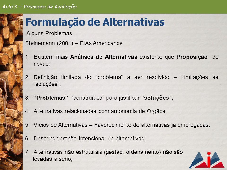 Formulação de Alternativas