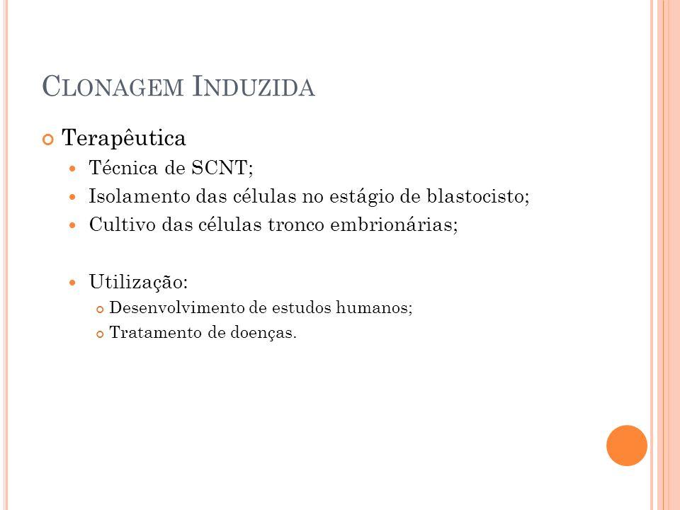 Clonagem Induzida Terapêutica Técnica de SCNT;