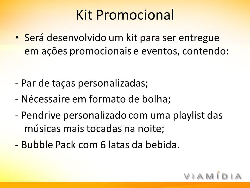 Kit Promocional Será desenvolvido um kit para ser entregue em ações promocionais e eventos, contendo: