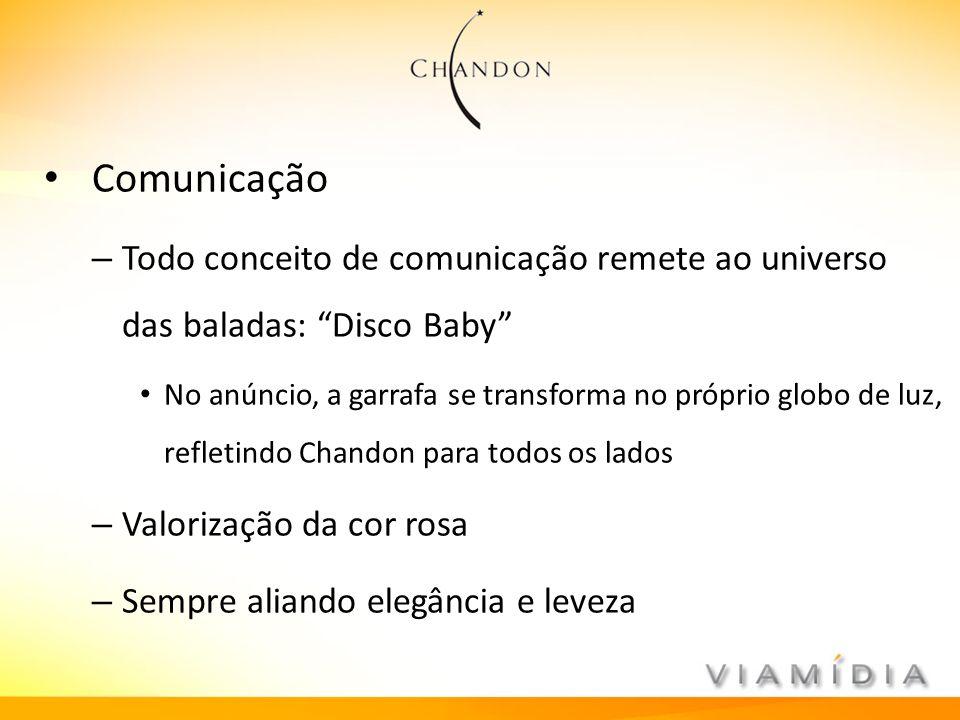 Comunicação Todo conceito de comunicação remete ao universo das baladas: Disco Baby