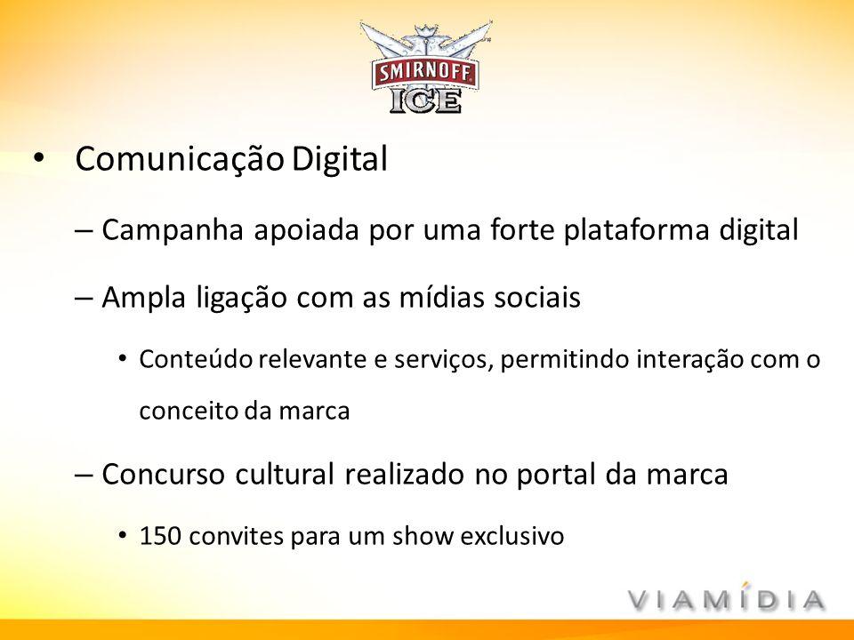 Comunicação Digital Campanha apoiada por uma forte plataforma digital