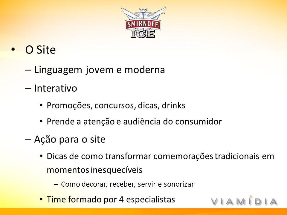 O Site Linguagem jovem e moderna Interativo Ação para o site