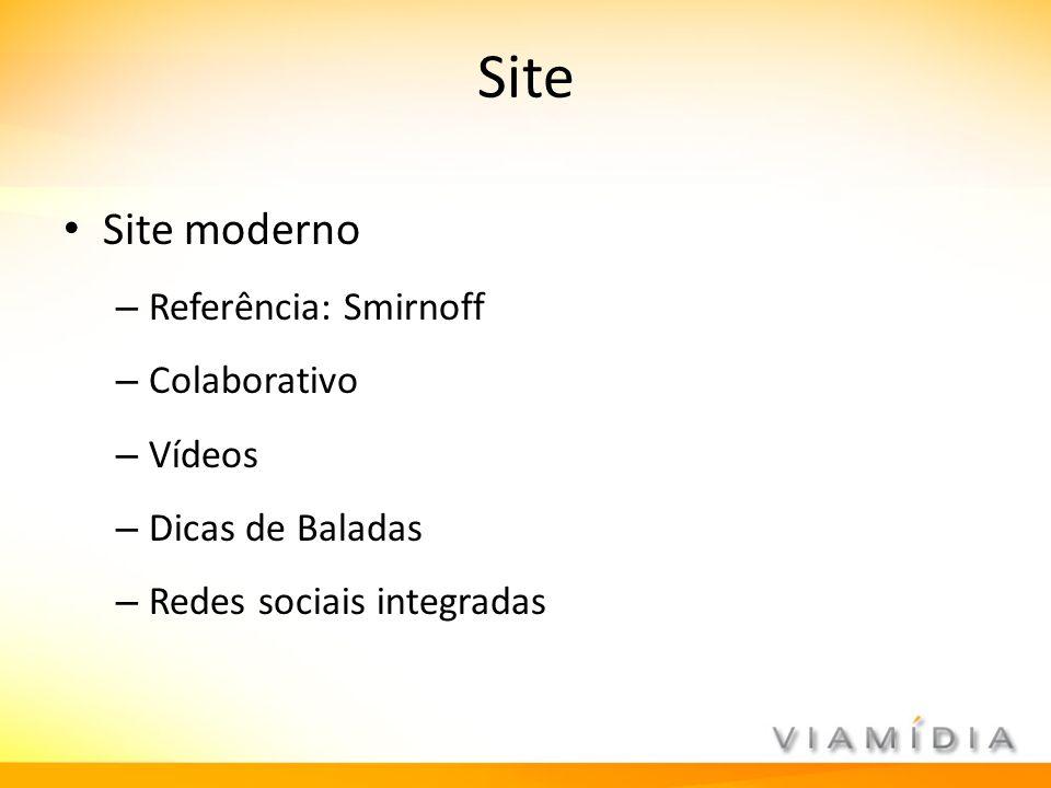 Site Site moderno Referência: Smirnoff Colaborativo Vídeos