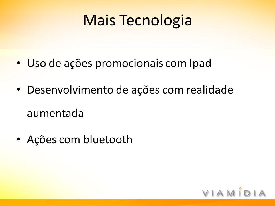 Mais Tecnologia Uso de ações promocionais com Ipad