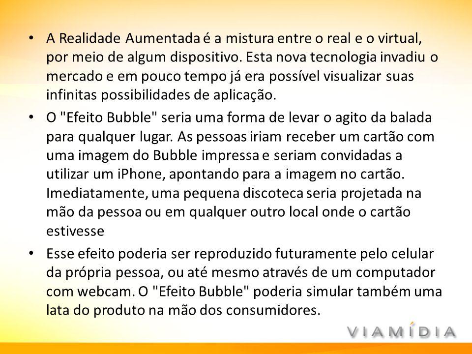 A Realidade Aumentada é a mistura entre o real e o virtual, por meio de algum dispositivo. Esta nova tecnologia invadiu o mercado e em pouco tempo já era possível visualizar suas infinitas possibilidades de aplicação.