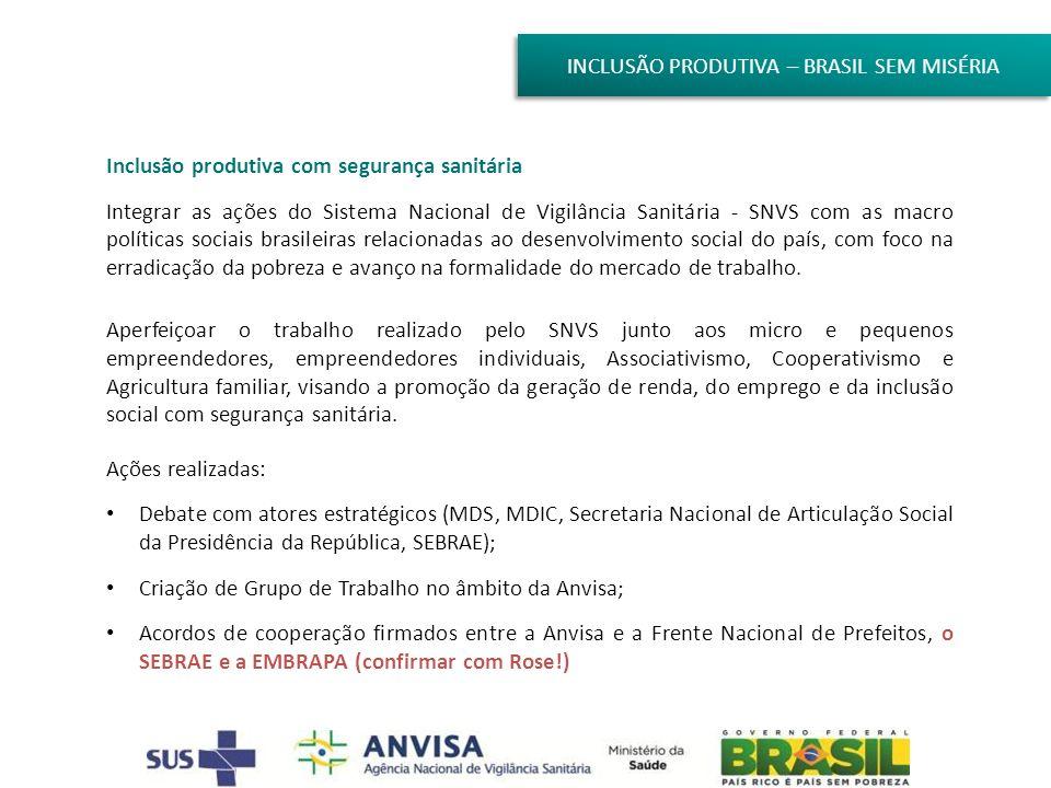 INCLUSÃO PRODUTIVA – BRASIL SEM MISÉRIA