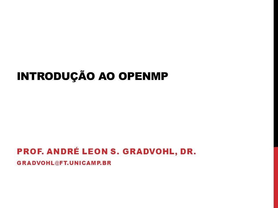 Prof. André Leon S. Gradvohl, Dr. gradvohl@ft.unicamp.br