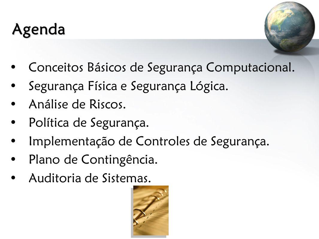 Agenda Conceitos Básicos de Segurança Computacional.