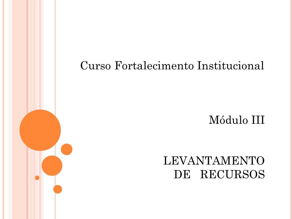 Curso Fortalecimento Institucional