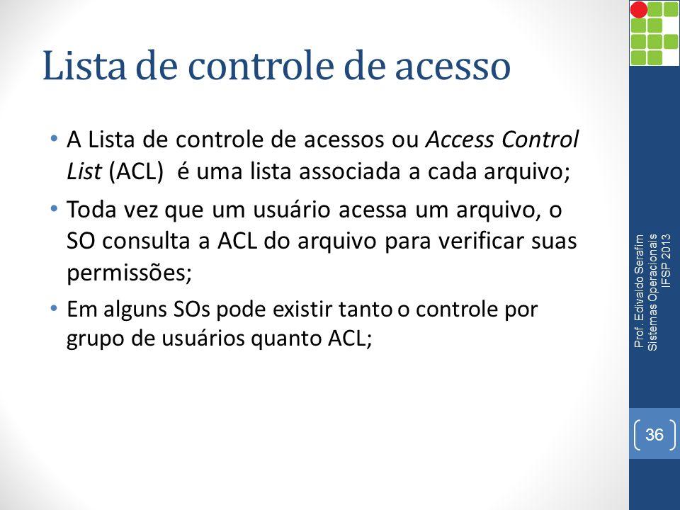 Lista de controle de acesso