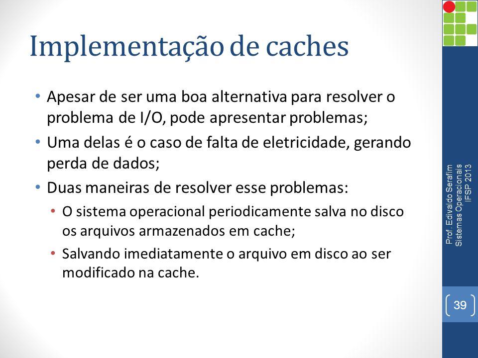 Implementação de caches