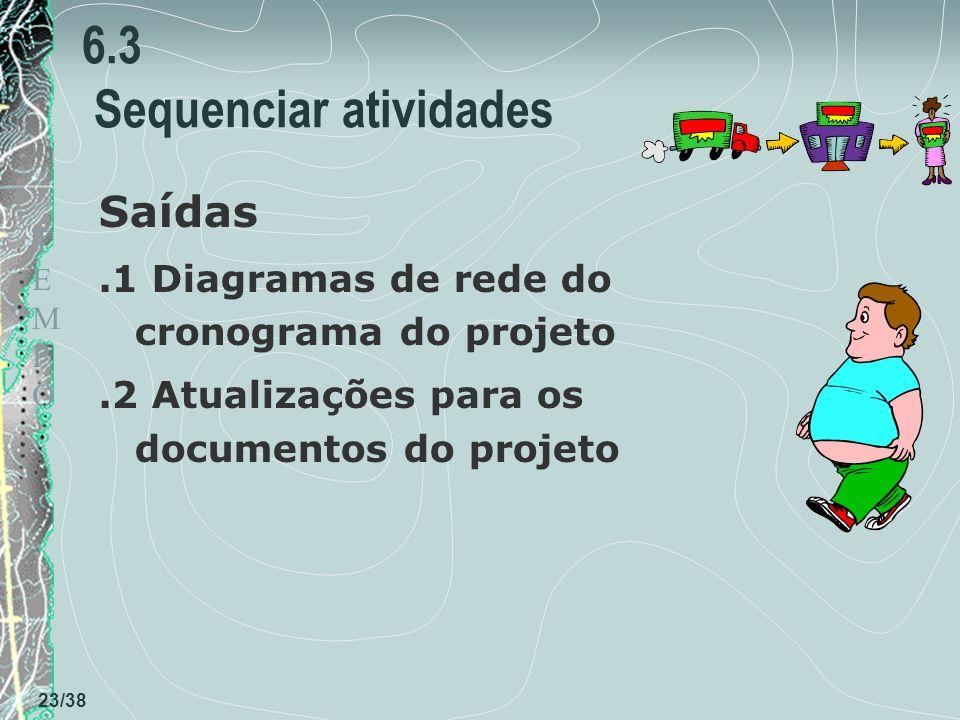 6.3 Sequenciar atividades