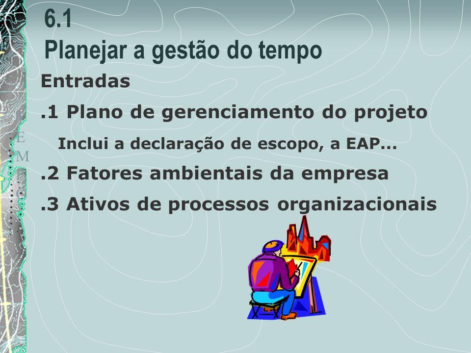 6.1 Planejar a gestão do tempo