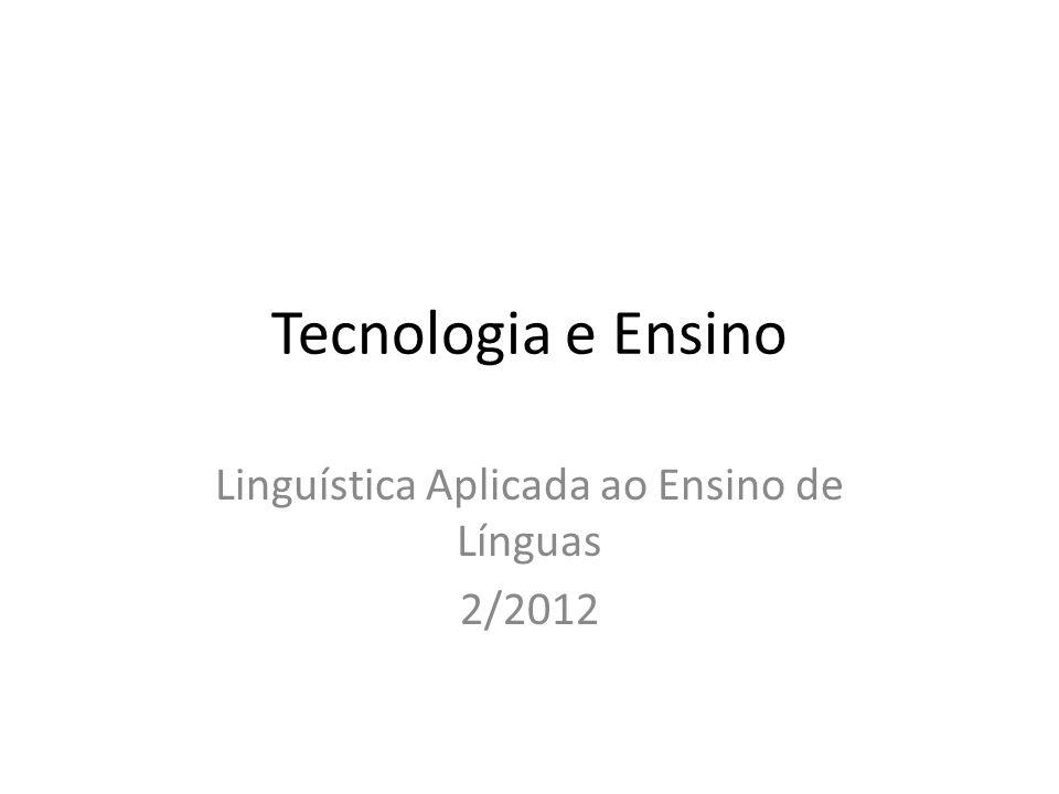 Linguística Aplicada ao Ensino de Línguas 2/2012