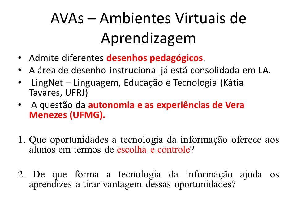 AVAs – Ambientes Virtuais de Aprendizagem