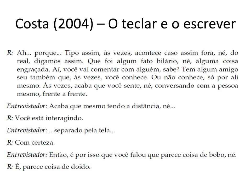 Costa (2004) – O teclar e o escrever