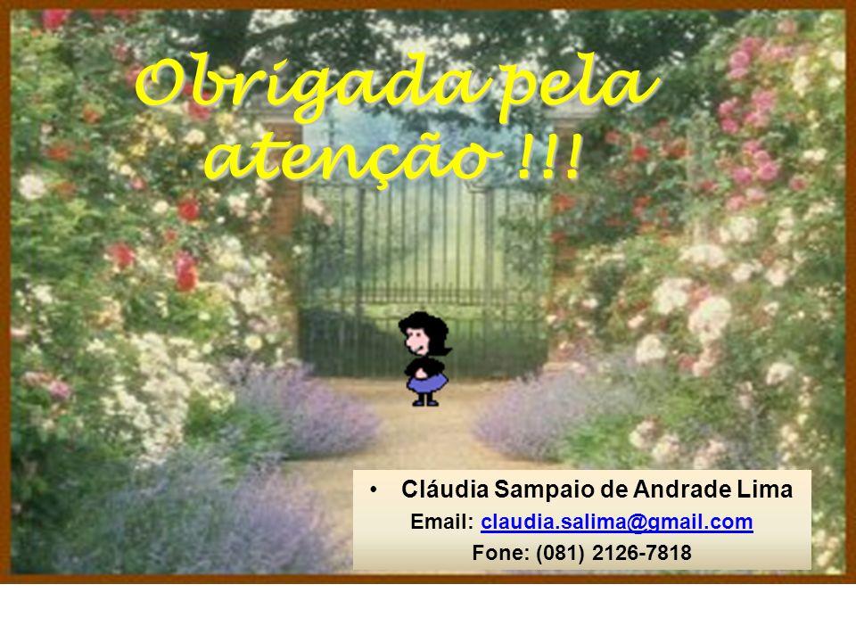 Cláudia Sampaio de Andrade Lima Email: claudia.salima@gmail.com