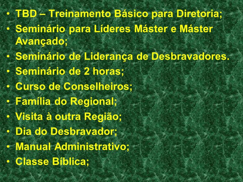 TBD – Treinamento Básico para Diretoria;