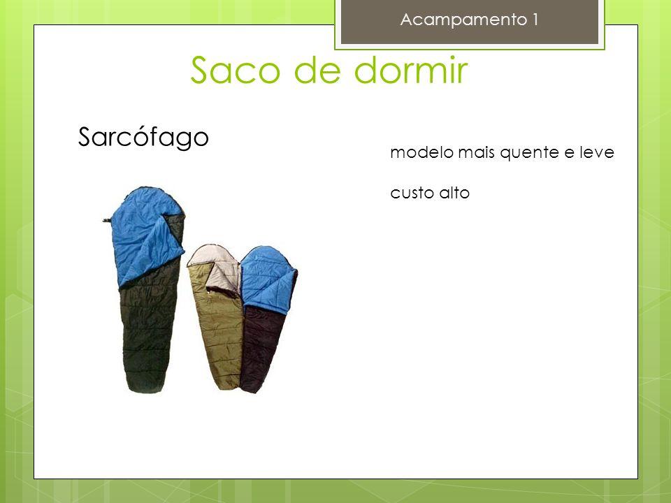 Saco de dormir Sarcófago Acampamento 1 modelo mais quente e leve