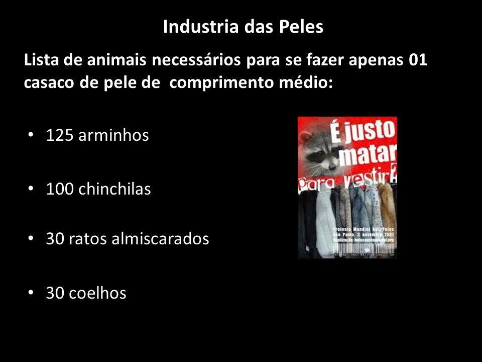 Industria das Peles Lista de animais necessários para se fazer apenas 01 casaco de pele de comprimento médio: