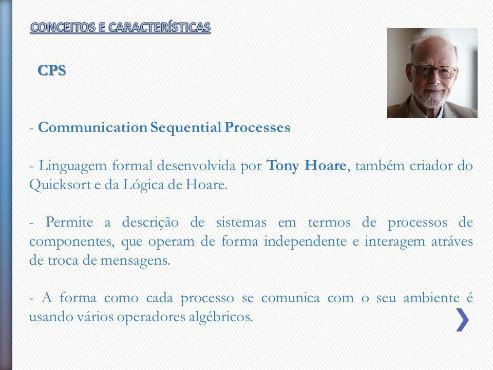 - Communication Sequential Processes