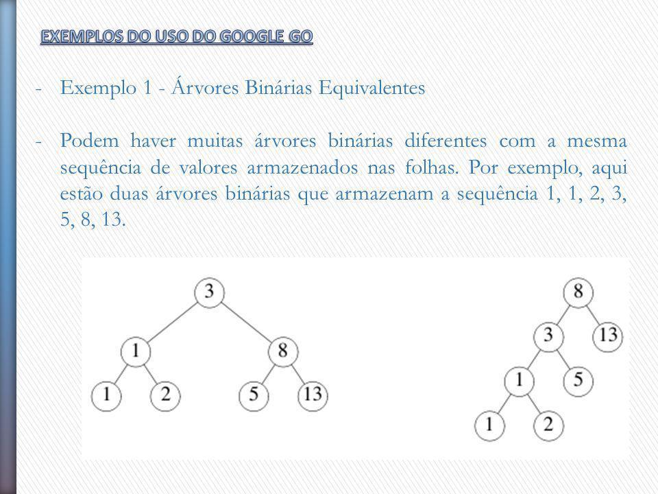 Exemplo 1 - Árvores Binárias Equivalentes