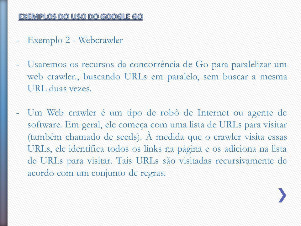 EXEMPLOS DO USO DO GOOGLE GO